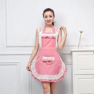 🚚 粉紅蕾絲圍裙