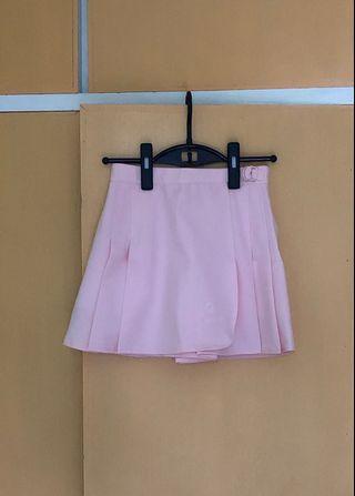 粉紅色運動短裙衭