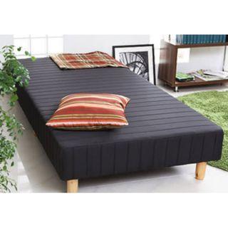 日系QQ彈簧懶人床單人3.5尺-床墊+床架一次買齊 (黑 八成新)