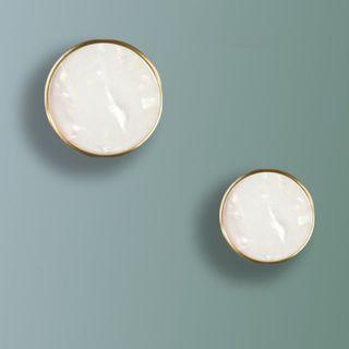 Iridescent Ivory Cabinet Knob