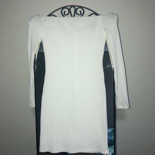 Showpo Off The Shoulder Ribbed Dress