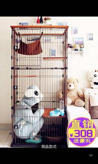🚚 Tall cat cage
