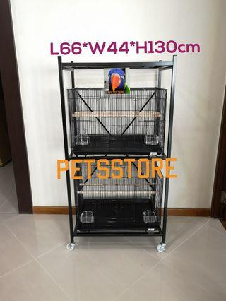 3 Tier 2ft Cages & Stand