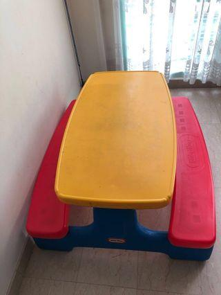 🚚 Little Tikes Table with Bench