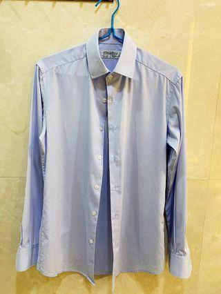 Men's Light Blue Shirt (Measurements below)