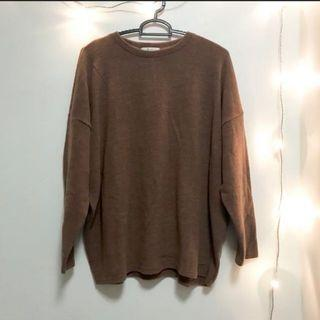 tb#21 korean brown knitted pullover