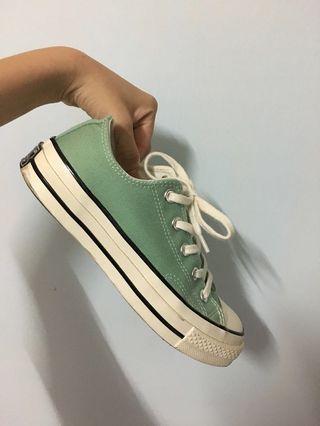 Converse 1970 70s帆布鞋 蘋果綠 湖水綠 踢芙尼綠 淺綠色女鞋