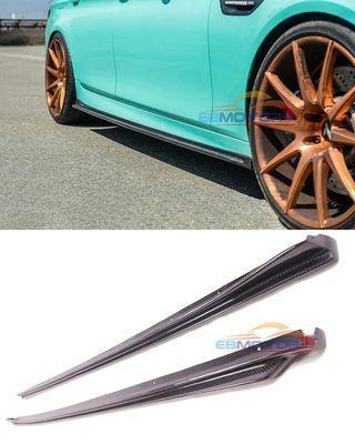 🚚 Real Carbon Fiber Side Skirt Extensions BMW F10 M Sport M5