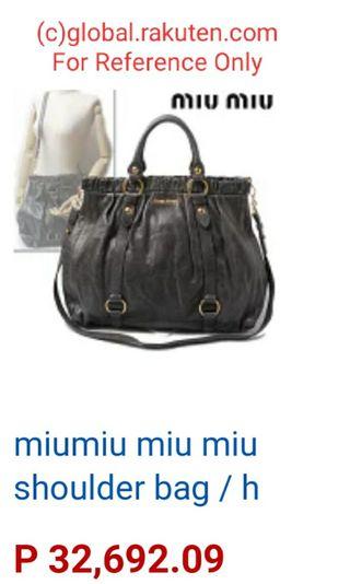 90d2dd02c724 Rush Sale Miu Miu Black Vitello Lux Leather Gathered Tote Bag
