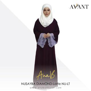 Ana B SUMAIYAH LACE-Purple SU-PL / Korean Koshibo & French Lace / Abaya / Jubah / Raya
