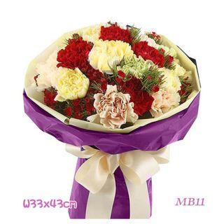 母親節花束鮮花康乃馨玫瑰禮物生日示愛道歉 flowerMB11