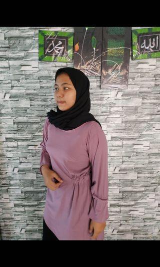 baju hijab purple