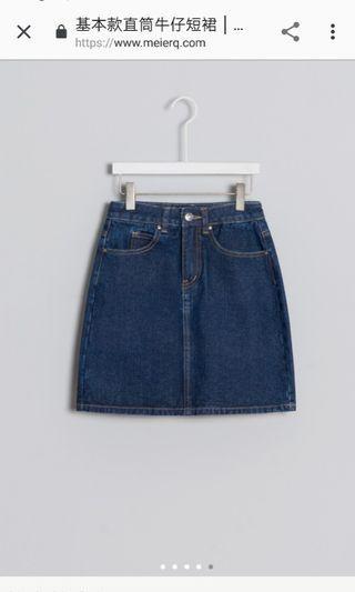 Meier.q牛仔短裙