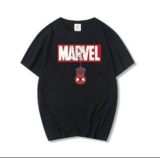Marvel Spiderman Cotton Solf T-shirts Women Men Graphic Tee