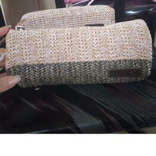 Korea Rattan Clutch bag Pencil bag Makeup bag 草籐 筆袋 化妝袋 $41包郵