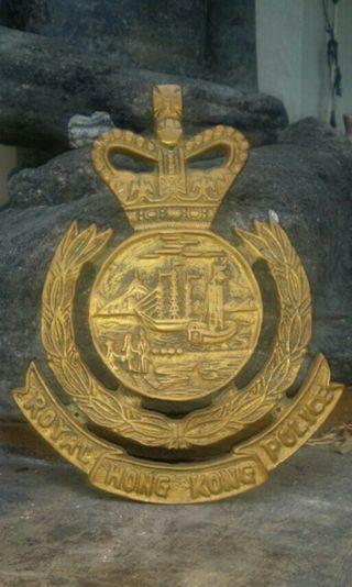 前朝皇家香港警察大銅章.高17cm
