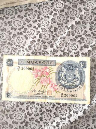 #MRTJurongEast Old Orchid $1 Note