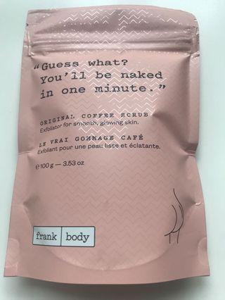 Coffee scrub Frank Body