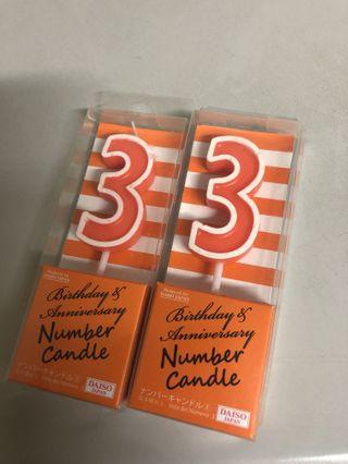 生日數字蠟燭
