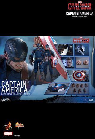 1/6th scale Hot Toys Captain America Civil War