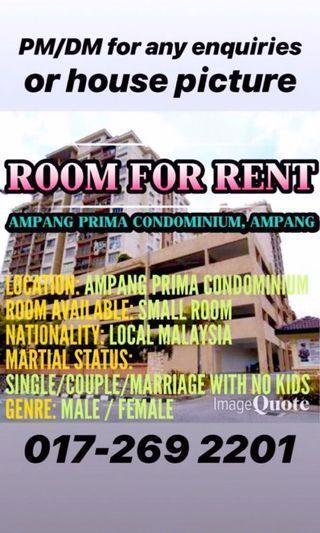 Small room for rent @ampang prima condo
