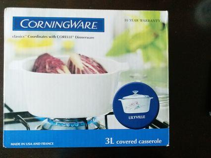 Corningware 3L covered casserole