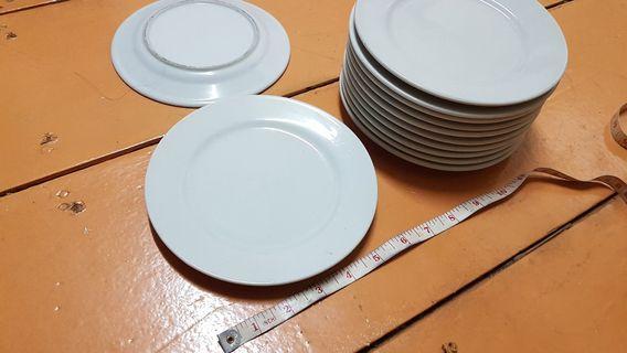 White plate side dish 12pcs