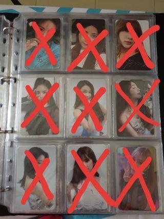 WTS KPOP Official Photocard Masterlist (BTS/Stray Kidz/Wannaone/SNSD/Apink/Red Velvet/Twice/IZ*ONE)