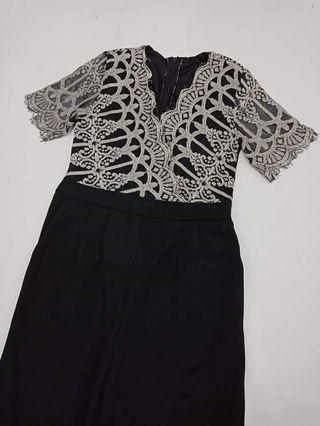 Jumpsuit mix lace