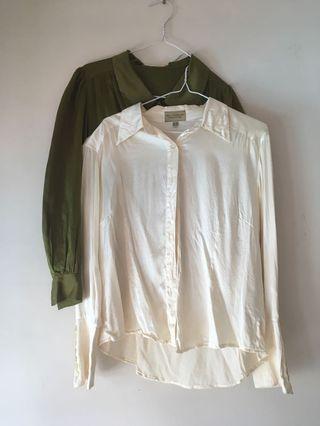 White Shirt 100% Silk