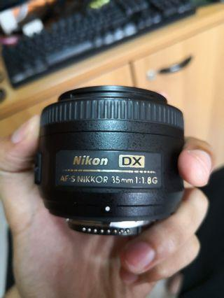 Nikon 35mm 1.8G DX with filters