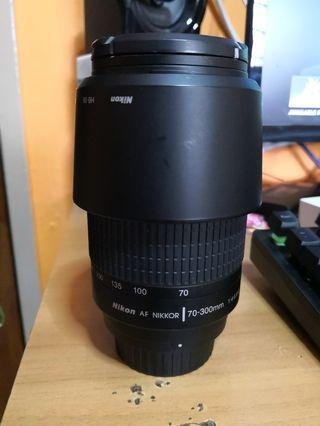 Nikkor AF 70-300mm f4-5.6 with uv filter