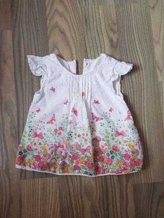 Mothercare Floral/Mousey Blouse