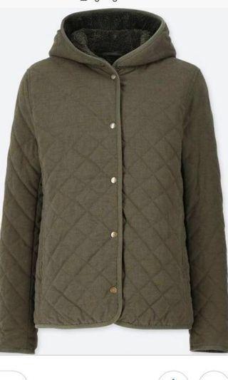 🚚 BNWOT Green Uniqlo Lined Fleece Jacket