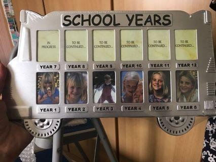 🚚 School years Photo Frame