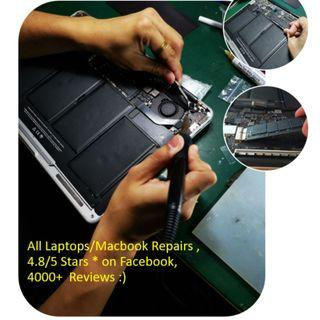 Laptops, Macbooks Repair (Macbook Pro, Macbook Air)