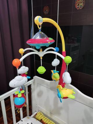 Baby Musical Bed Bell Animal Rattles Projection