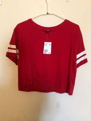 紅色短版上衣(全新吊牌未拆