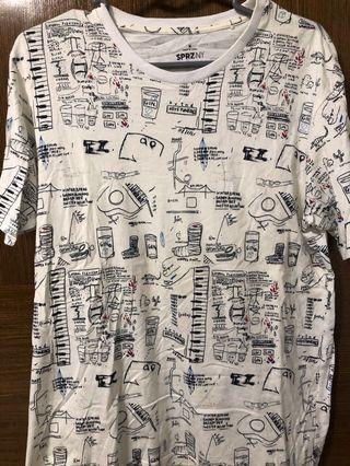 🚚 Uniqlo Messy Graphic Art T-Shirt