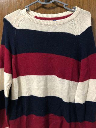 🚚 HnM Striped Knitted Sweater
