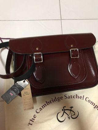 "🚚 Cambridge Satchel Company 11"" Oxblood leather"