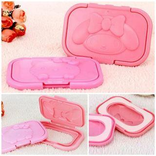 Wet Tissue Wipe Reusable Cover Lid (Hello Kitty / My Melody)