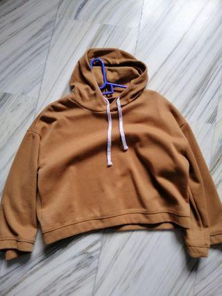cute teddy bear cropped hoodie