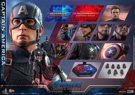 (5月8日 訂單) Captain America 美國隊長 (The Avengers: End Game 復仇者聯盟) 訂單 Hot Toys hottoys Marvel 漫威 MMS536 訂購時間:(16:01) 4:01pm