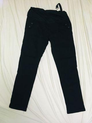 全新孕婦黑色西褲