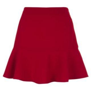 New Look Drop Peplum Skirt in Red