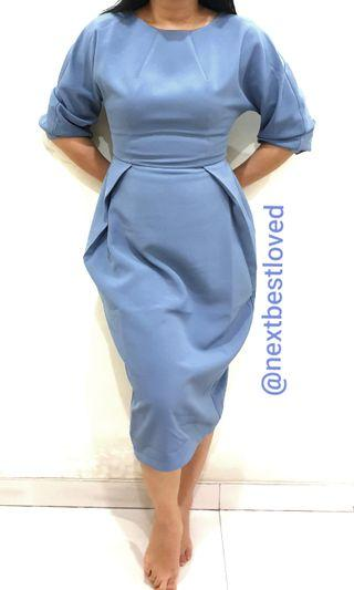 Love Bonito Serenity Blue Midi Dress #bapau