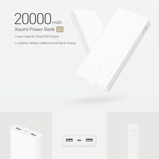 Xiaomi 20000mAh 2C Power Bank 2018 (Ready stock)