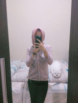 Surfer girl kemeja top shirt anak kuliah #maujam