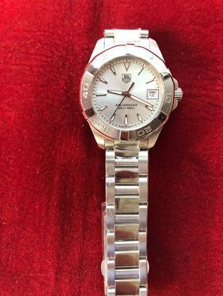 Tag Heuer Aquaracer warna putih, hitam dan silver Ladies Watch  Dijamin original
